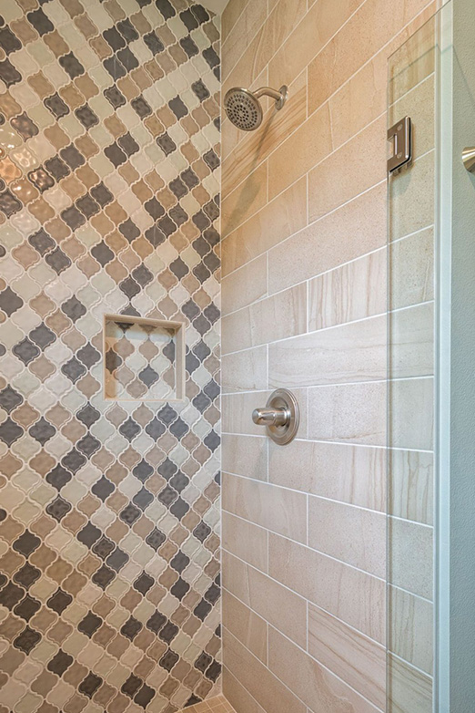 Emily Hughes Portfolio: Neutral Transitional Townhome Guest Shower