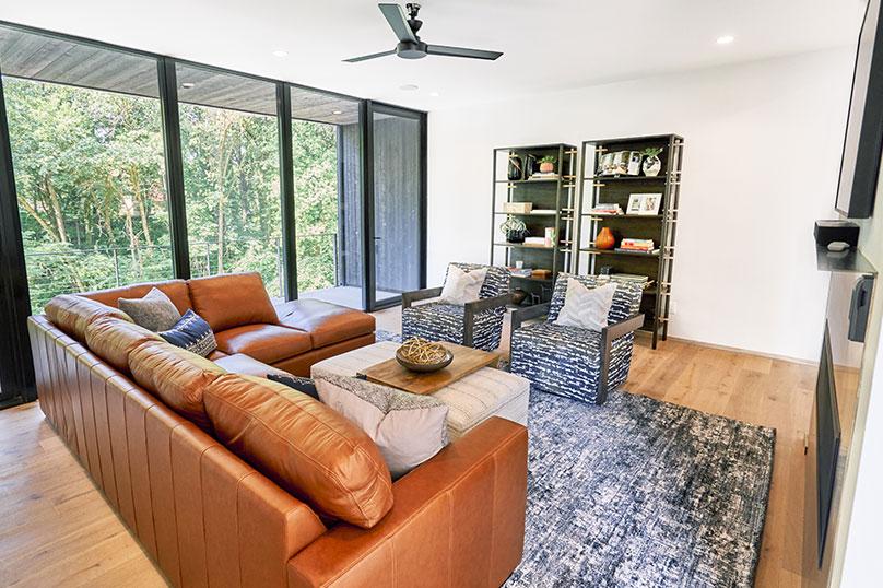 Emily Hughes Portfolio: Modern Scandinavian Living Room