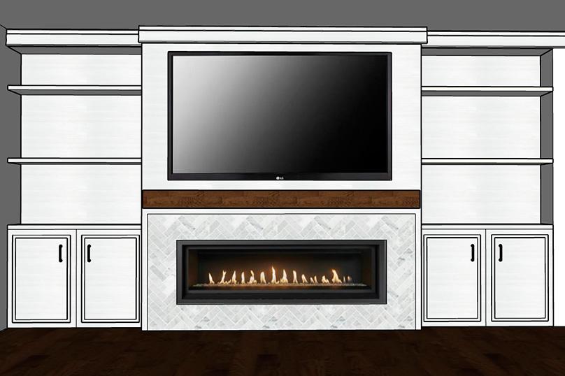 Fireplace Surround Design Mockup