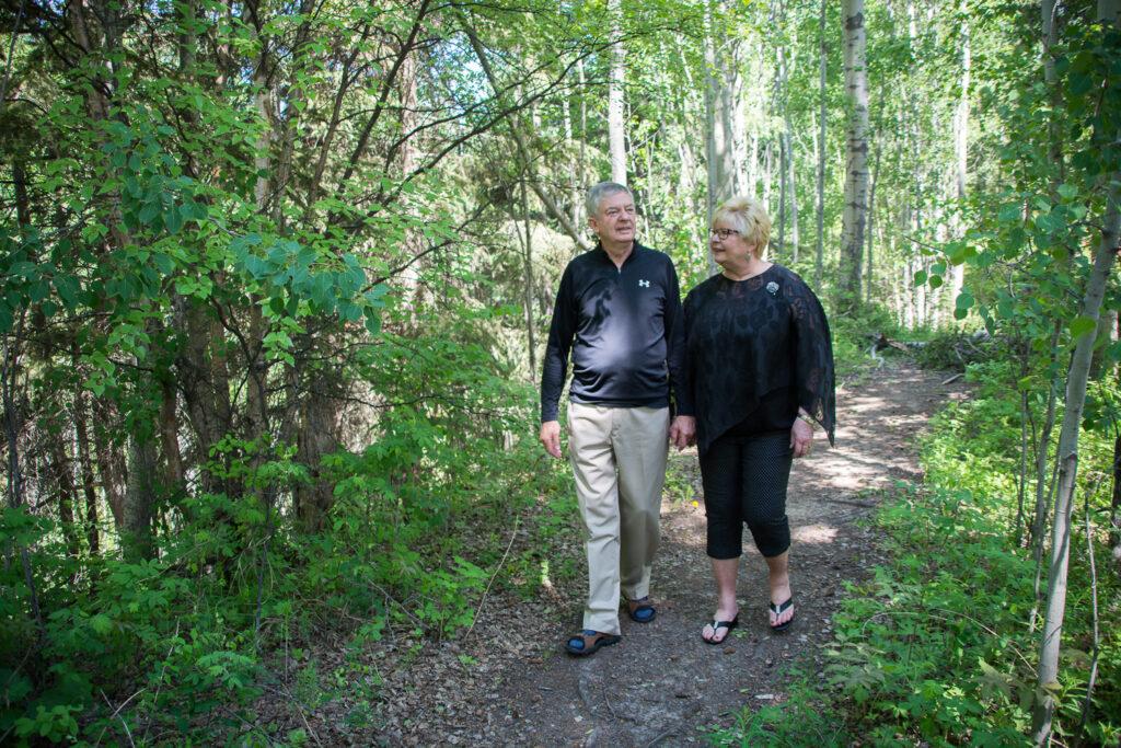 Trail Couple Walking