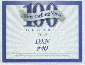 DXN está clasificada como una de las 40 mejores compañías