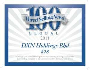 DXN está clasificada como una de las 28 mejores compañías