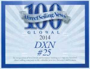 DXN está clasificada como una de las 25 mejores compañías