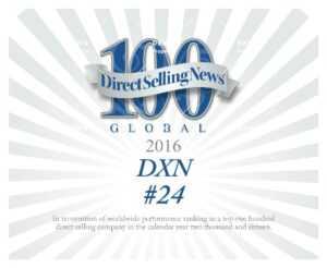 DXN está clasificada como una de las 24 mejores compañías