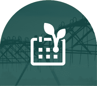 Crop management planning icon