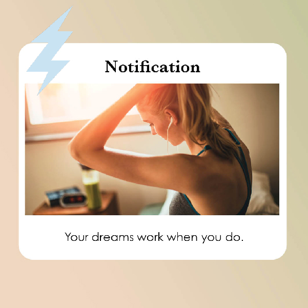 Sample Notification Style Social Media post for Exiza Brand