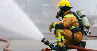 Office building on Hospitality heavily damaged from fire
