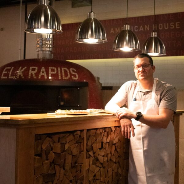 Executive Chef Michael Peterson of American House Wood Fired Pizza in Elk Rapids, Michigan