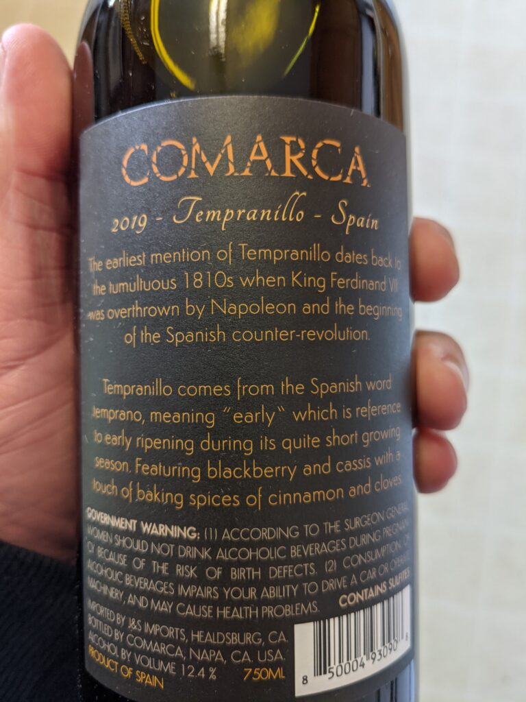 Comarca Tempranillo Review FirstLeaf Wine Club