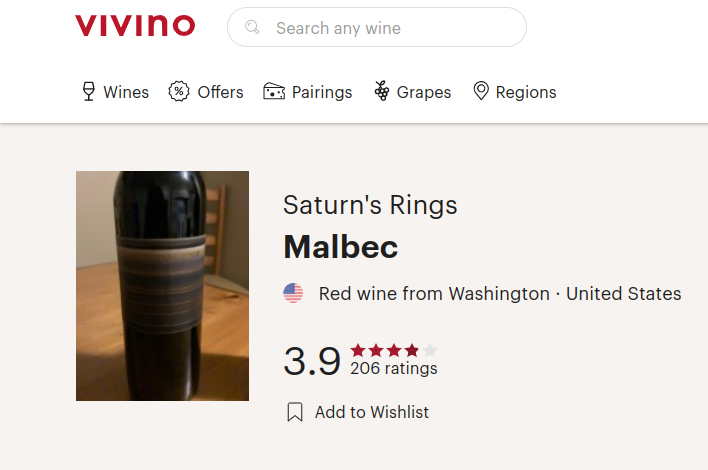 Saturn's Rings Malbec Review
