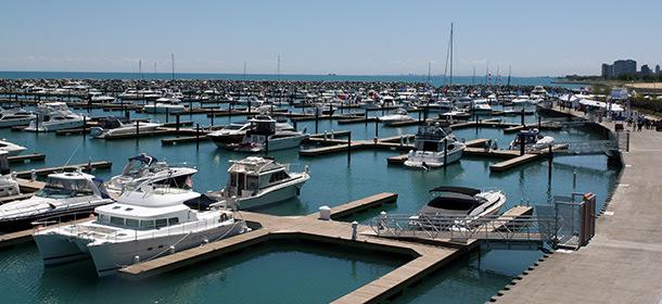 boat slips in Muskegon marina