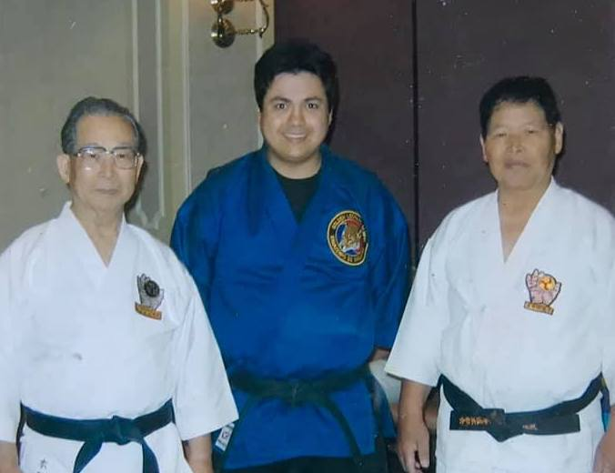 Motobu and Inaba Sensei at the seminar with me.