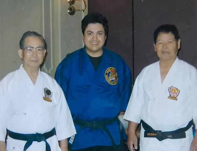 Motobu and Inaba Sensei at the seminar with me.
