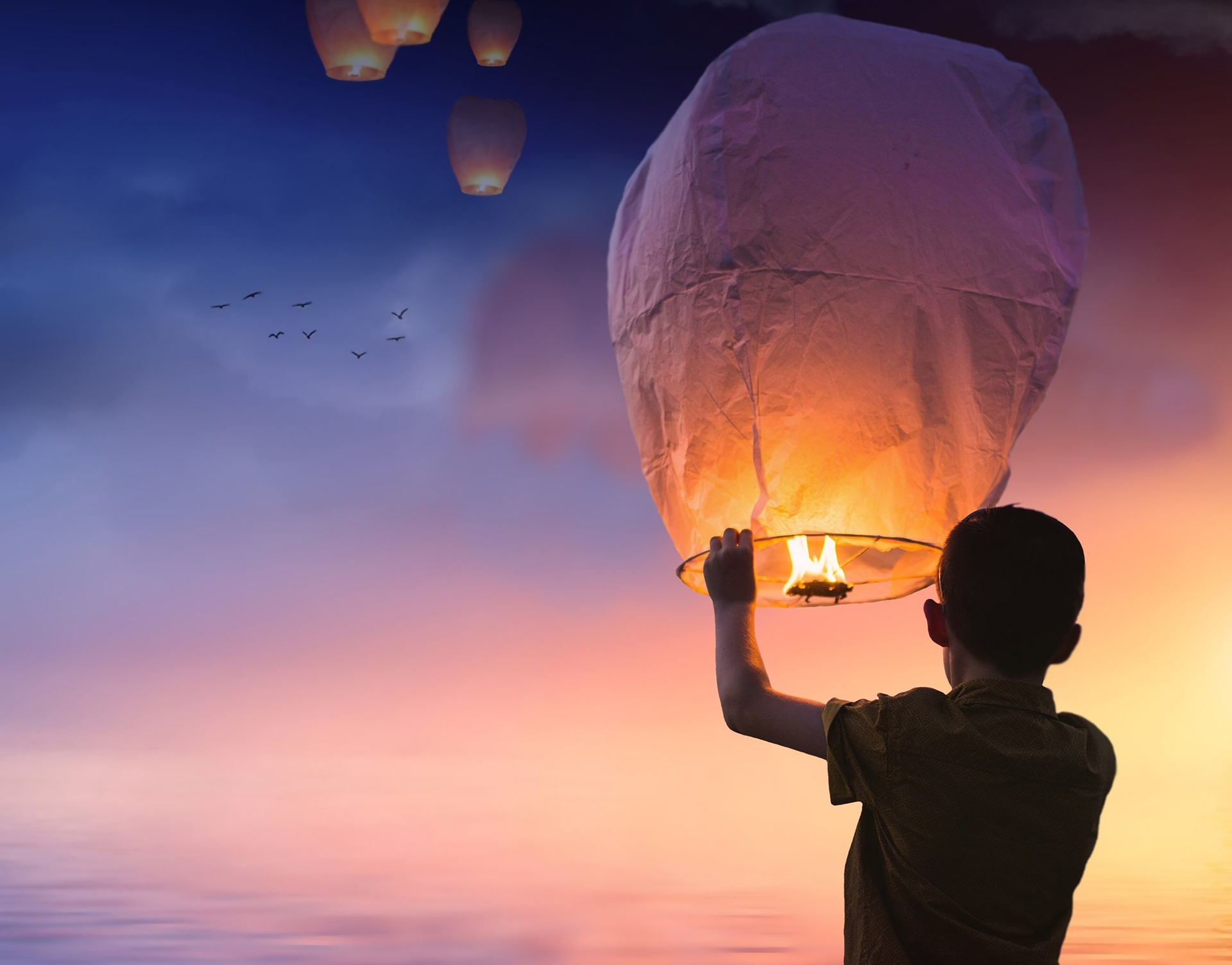 launching a balloon