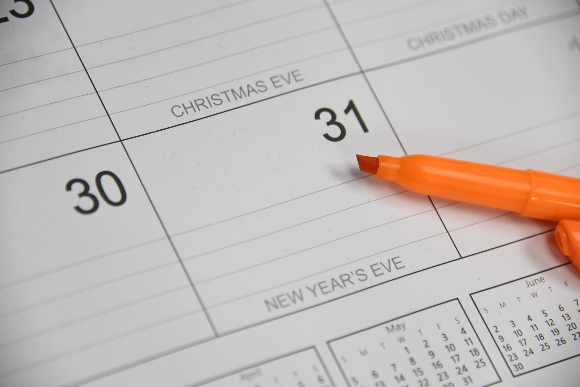 new years day on calendar