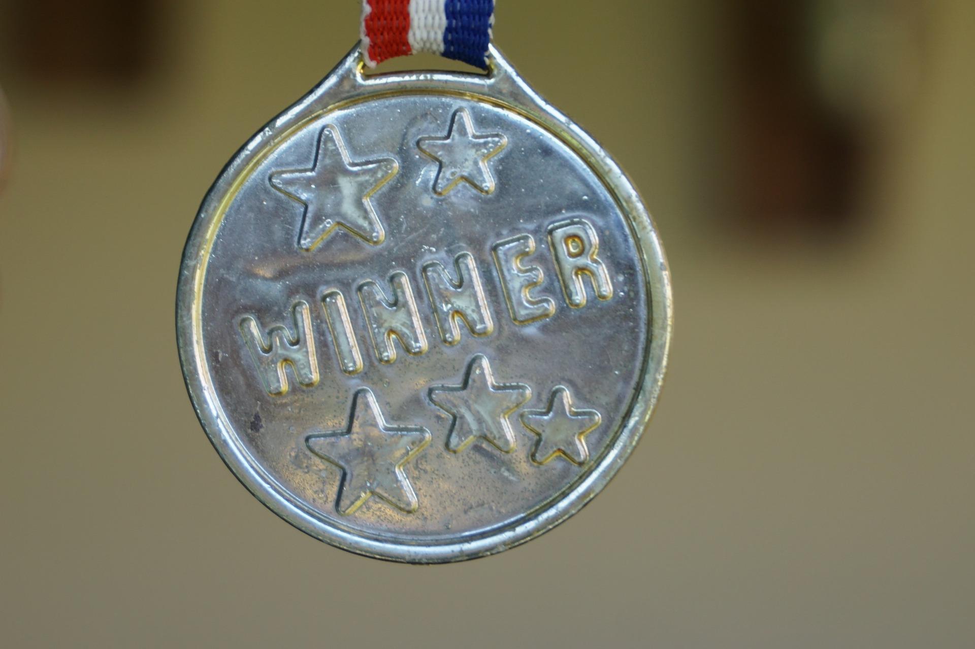 A winner's medal