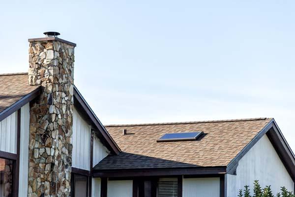 Shingle roof on home