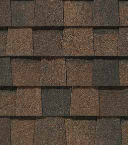 Burnt Sienna shingle roof color swatch