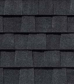 Charcoal Black shingle roof color swatch