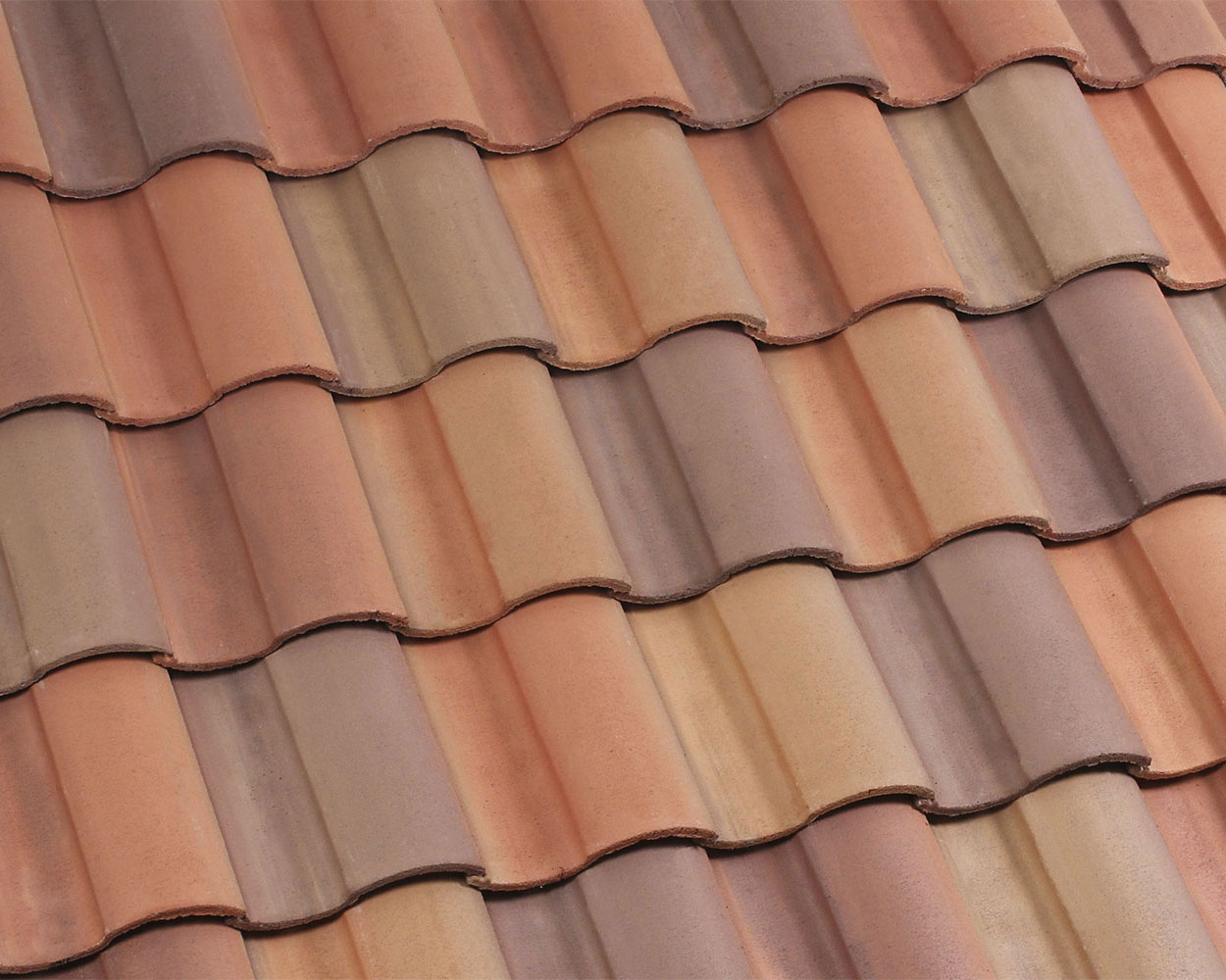 Coral Springs blend tile roof color swatch
