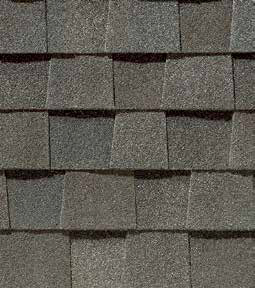 Driftwood shingle roof color swatch