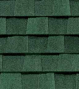 Hunter Green shingle roof color swatch
