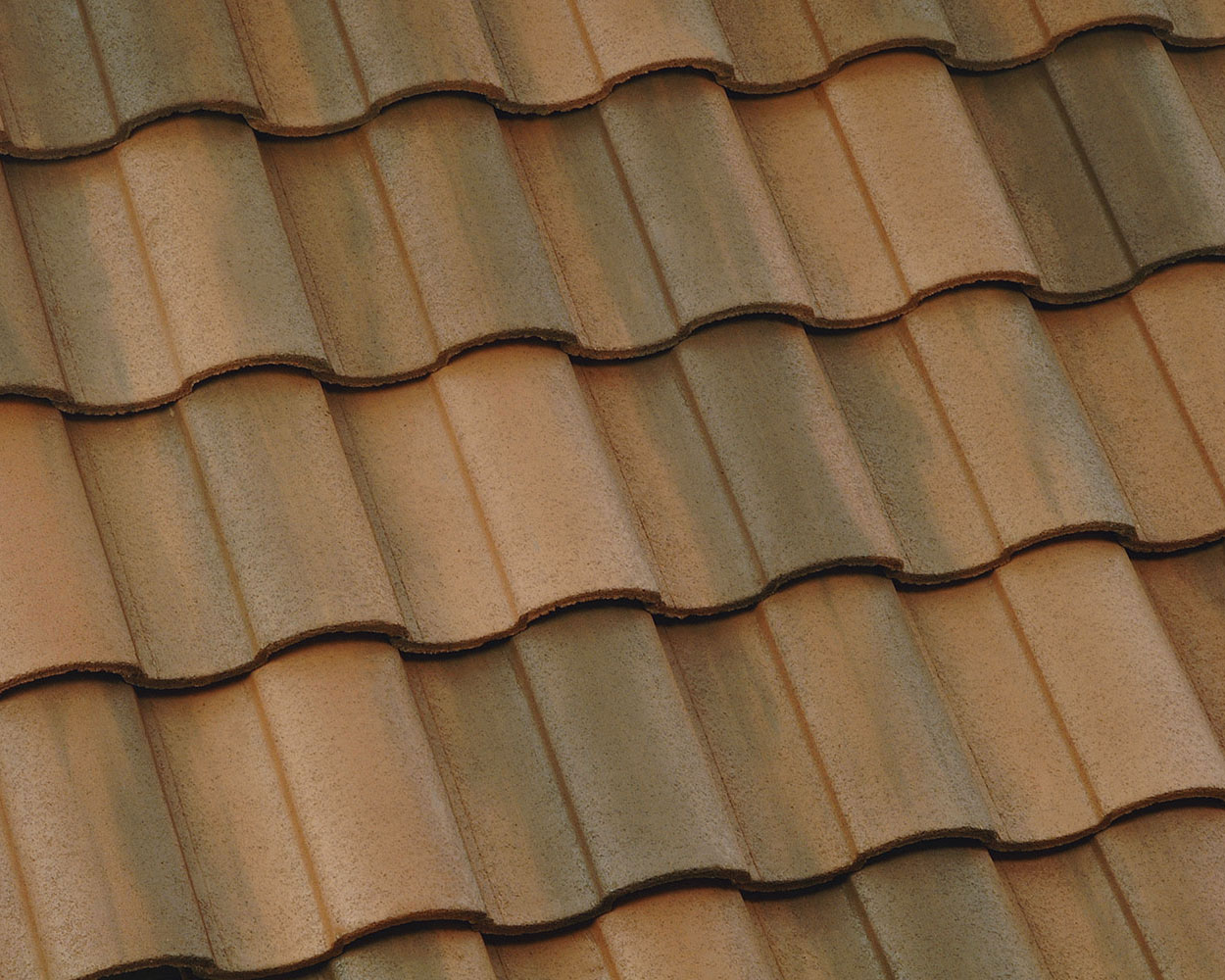 Sunrise blend tile roof color swatch