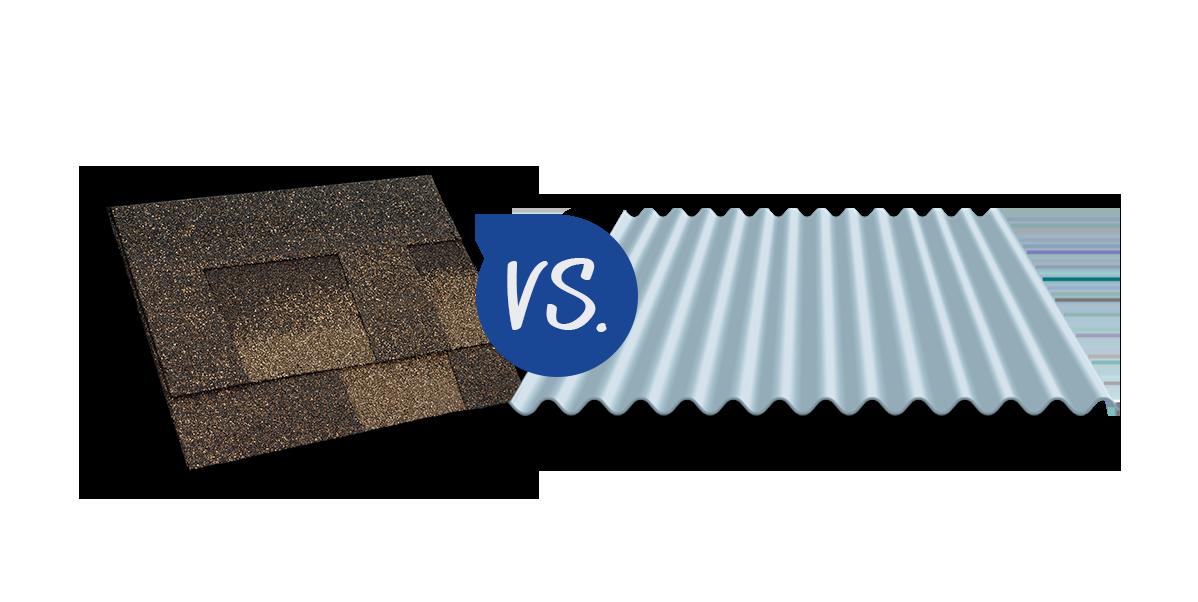Metal roof vs. shingle roof