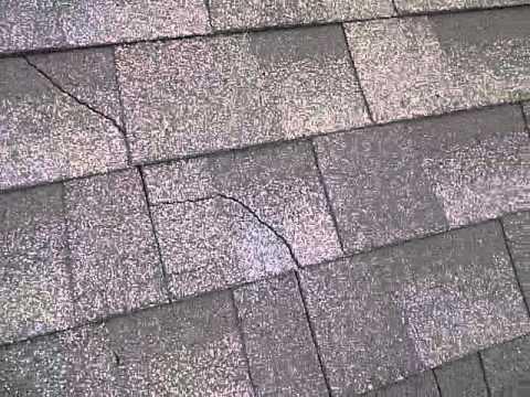 Cracked shingle