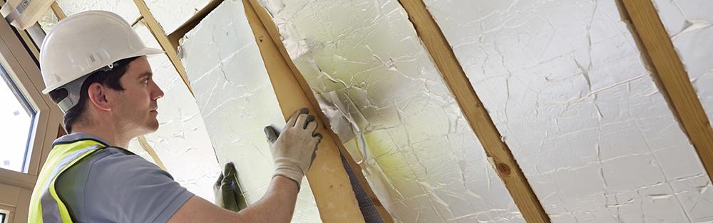 Man installing ventilation