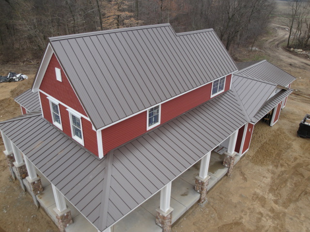 Installation of metal roof