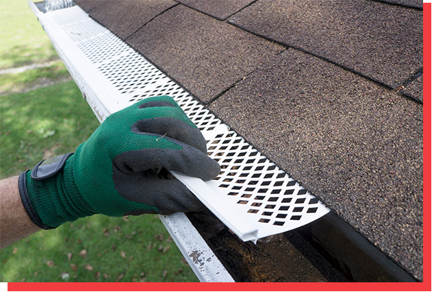 Installing guards on gutters