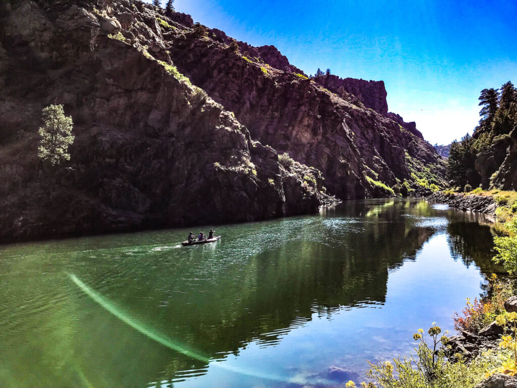 Black Canyon Curecanti with canoers PC NPS Victoria Stauffenberg