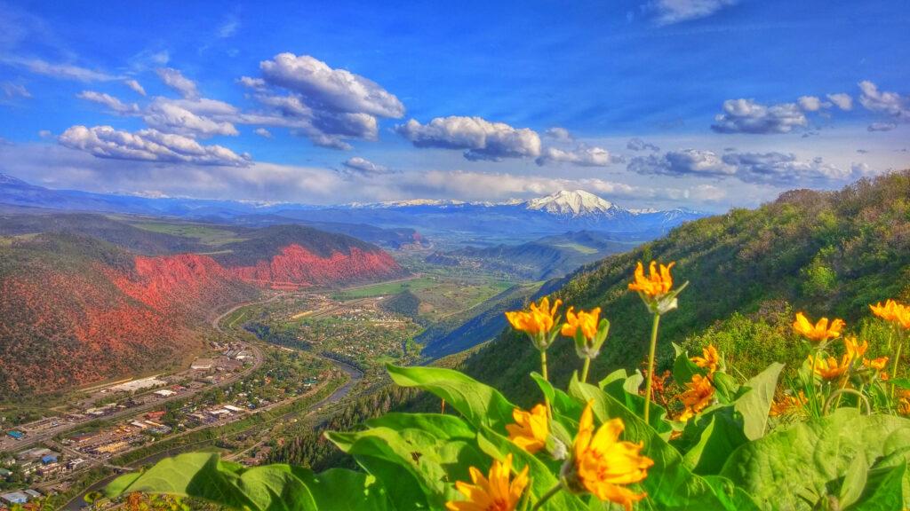 Glenwood Springs Scenic Red Mountain Spring View Visit Glenwood