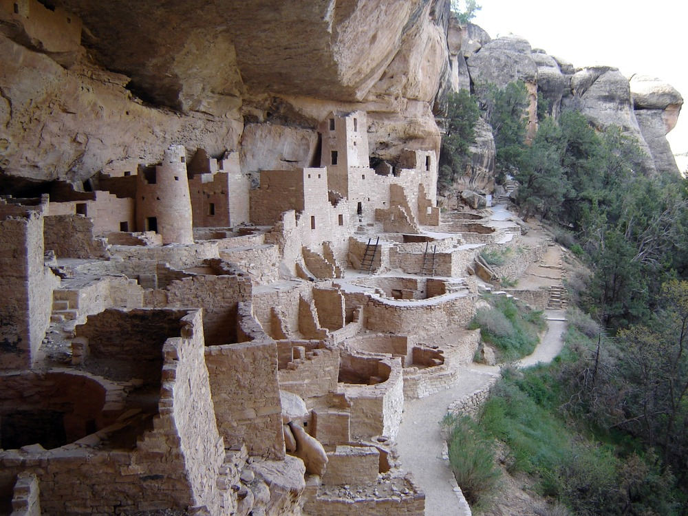 Mesa Verde Cliff Palace from above PC NPS 1