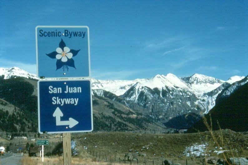 Sign Near Telluride Lenore Bates CDOT 1
