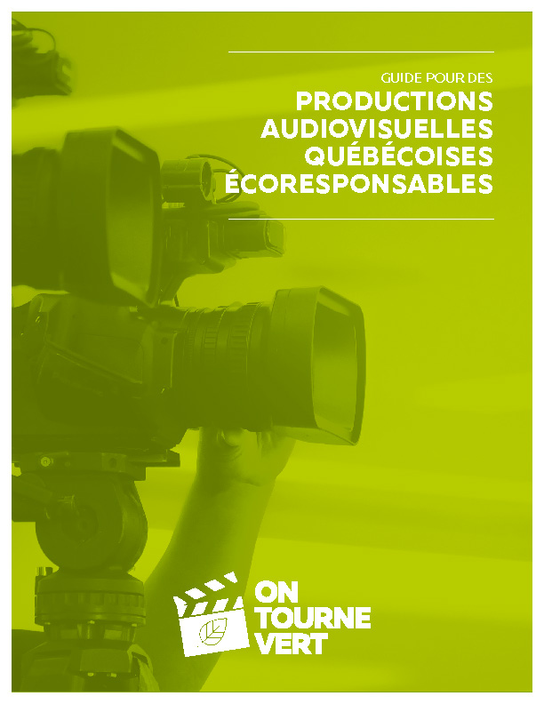 Guide des productions écoresponsables au Québec
