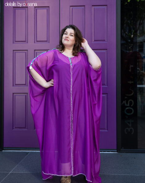 Purple caftan