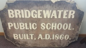 Plaque from former borough building and public school prior