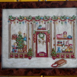 Cross Stitched Christmas Toy Shop