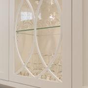 Cabinets de MDF protégés par un laque avec 20% de lustre