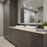 AMC Design vanité de salle de bain avec cabinets de rangement