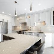 AMC Design Rénovation cuisine comptoir de quartz Silestone Montréal