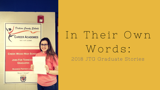 In Their Own Words: Sarah Hafner, 2018 JTG Graduate