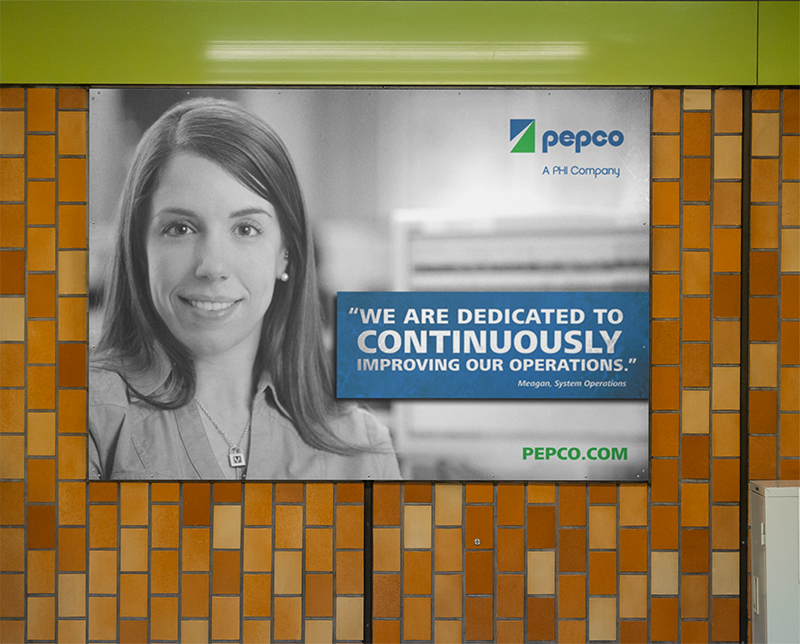 Pepco reliability OOH banner