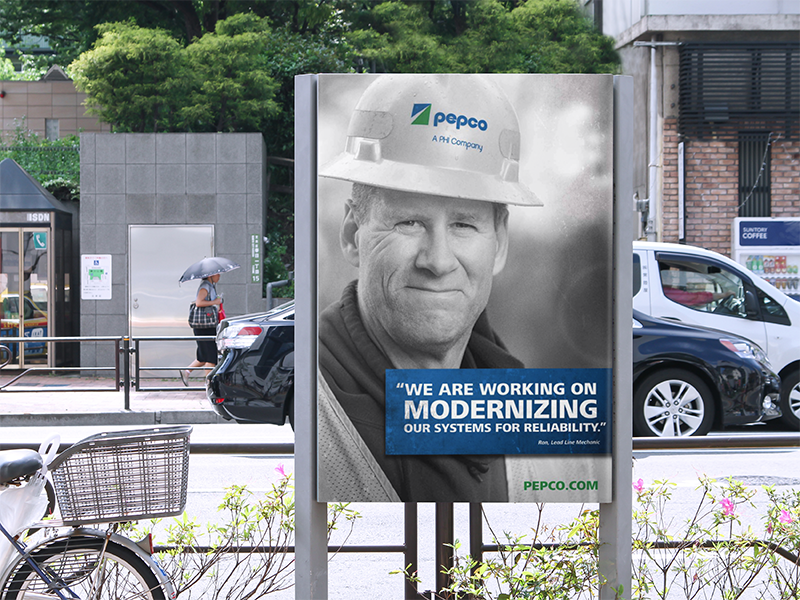 Pepco reliability OOH vertical banner