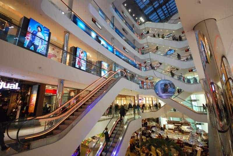 Inside of a Retail Shopping Mall