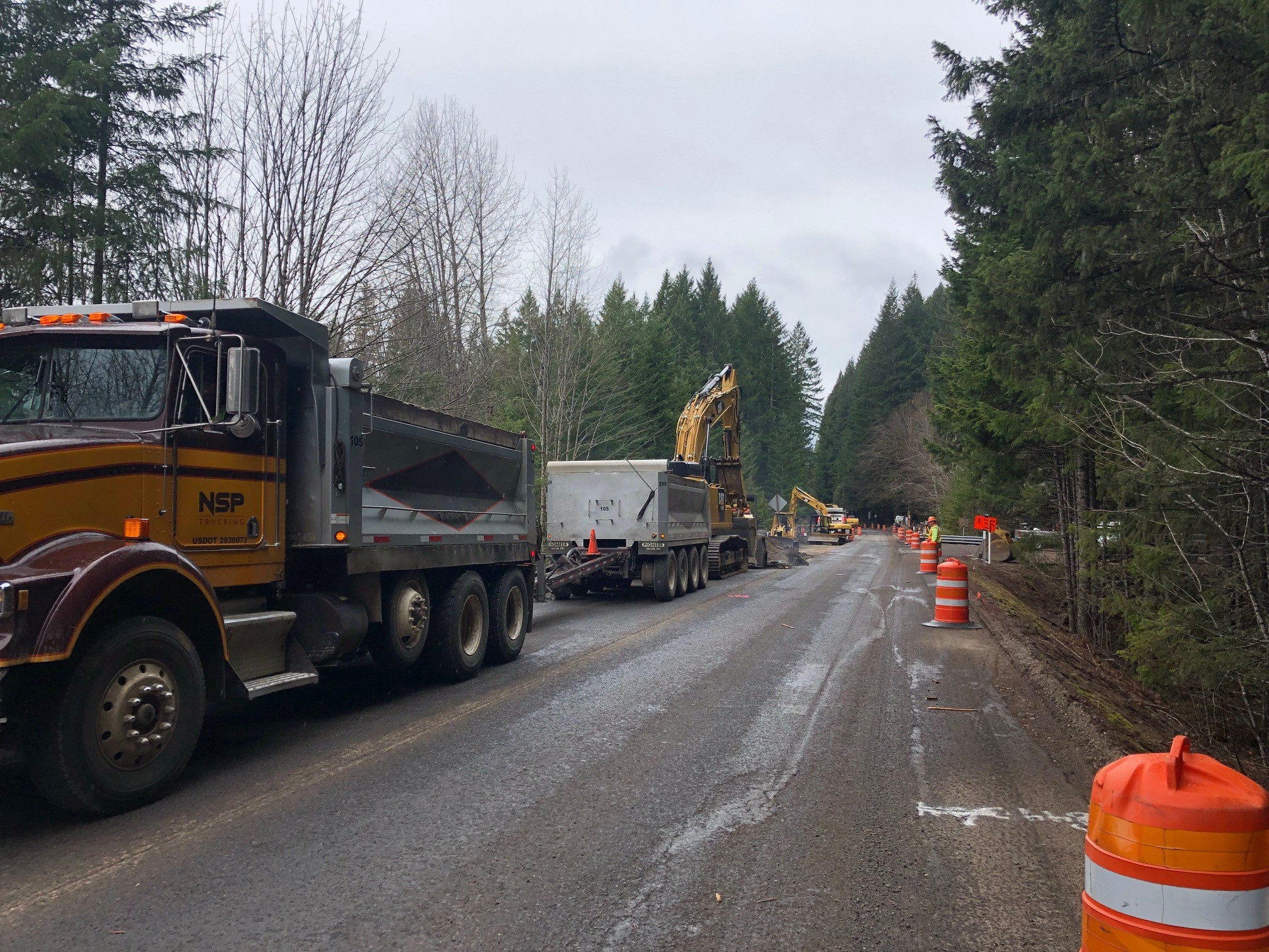 Highway 22 Tumble Creek bridge project