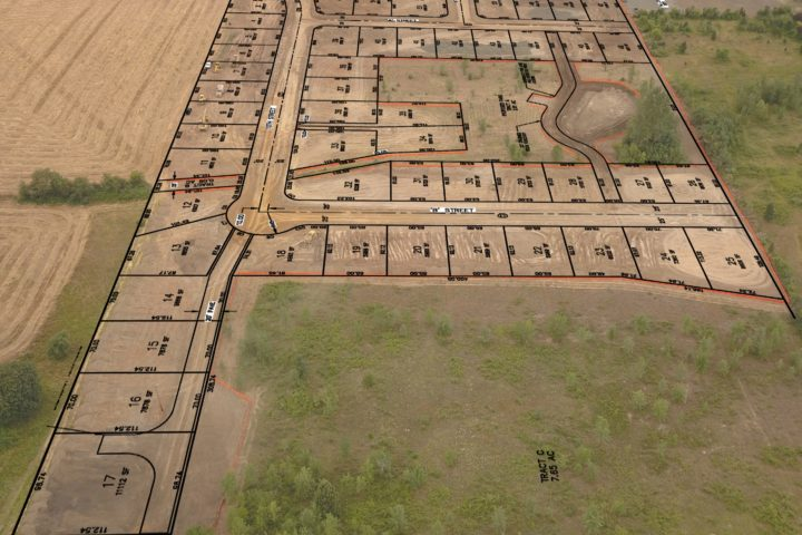 Overhead of NSP's Design-Build Subdivision Red Hills Estates in Monroe