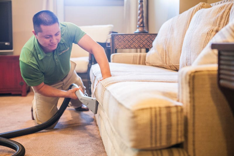 Professional Upholstery Cleaning by Carpet Keepers Leesburg VA
